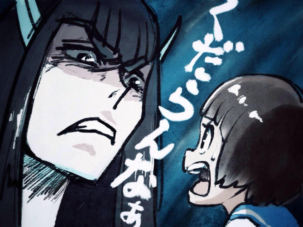 Kill la kill-Mako and Satsuki by ta-ku-zou