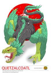 Japan Commission- Quetzalcoatl by happymonkeyshoes