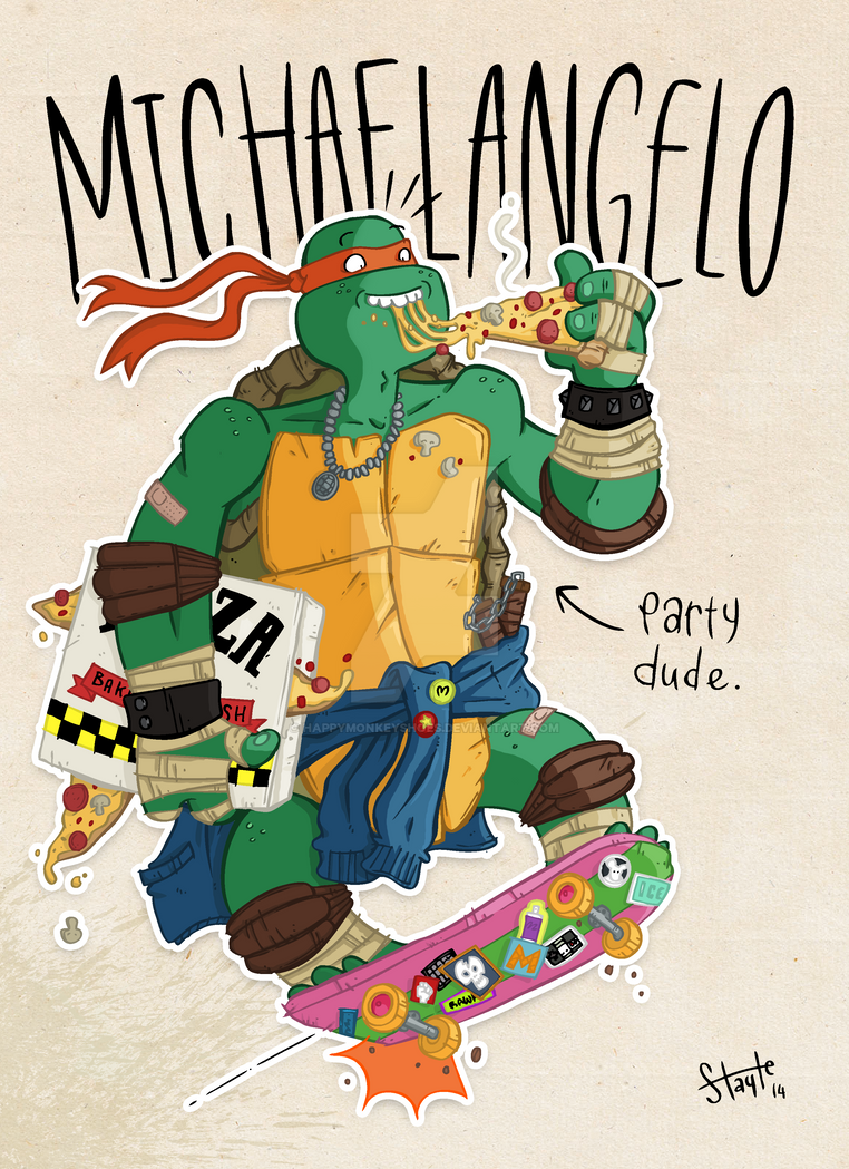 COLLAB - Michaelangelo by happymonkeyshoes