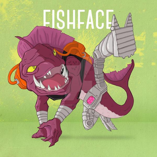Fishface by happymonkeyshoes