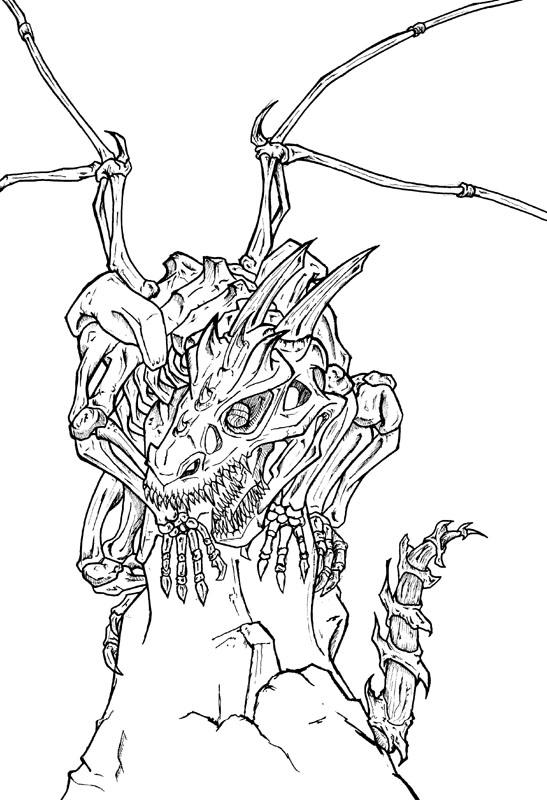 How to draw skeleton dragons