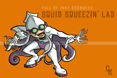 CR File - Squid Squeezin Lad by happymonkeyshoes