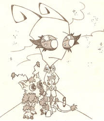 Uken and Sloofkin by Half-dude