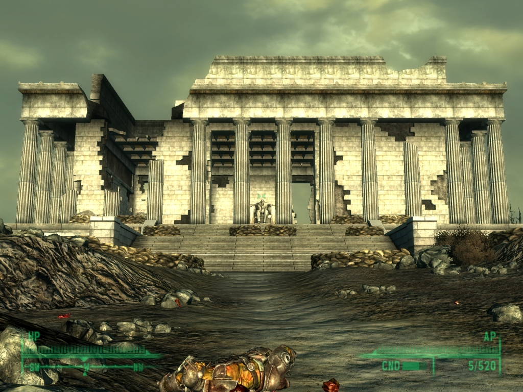 Fallout 3 - Lincoln Memorial by Half-dude