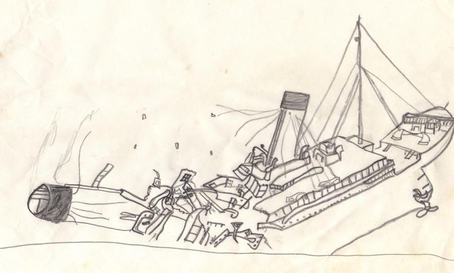 how to draw a old school ship