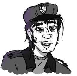 FNAF - Purple Guy Sketch