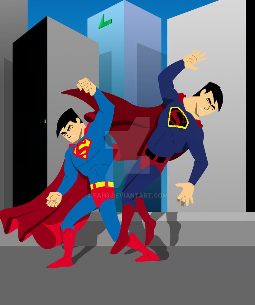 Superman vs Superman by FAH3