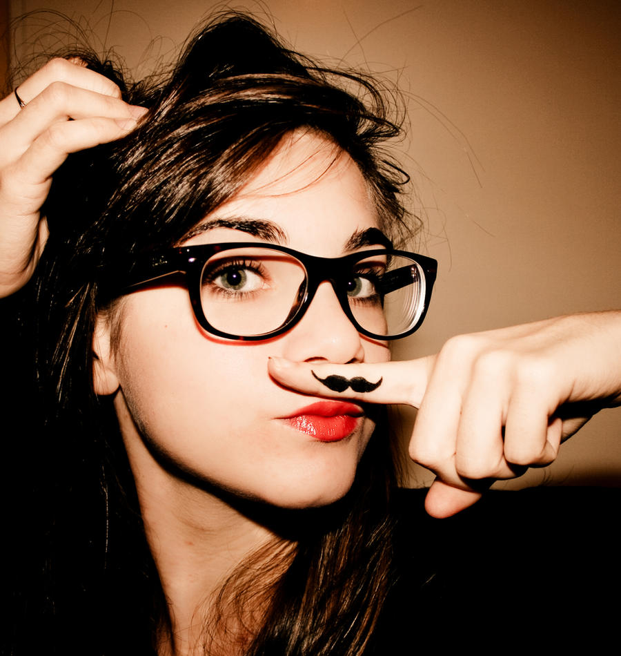 I love moustache by plusAudreyqueHepburn