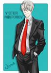 Viktor in a tuxedo