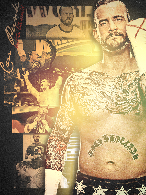 Cm Punk Poster 2 by findmyart