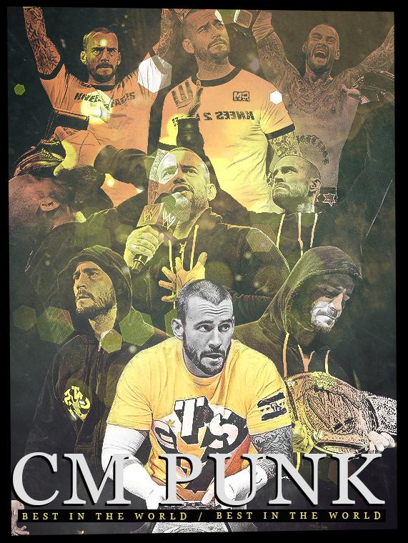 Cm Punk Poster 2.0 by findmyart