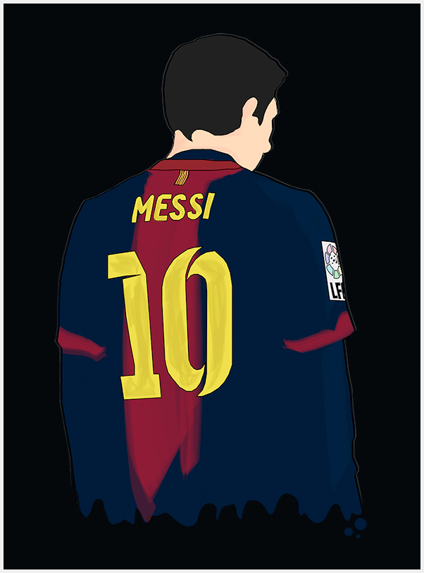 Messi 10 - Poster by findmyart