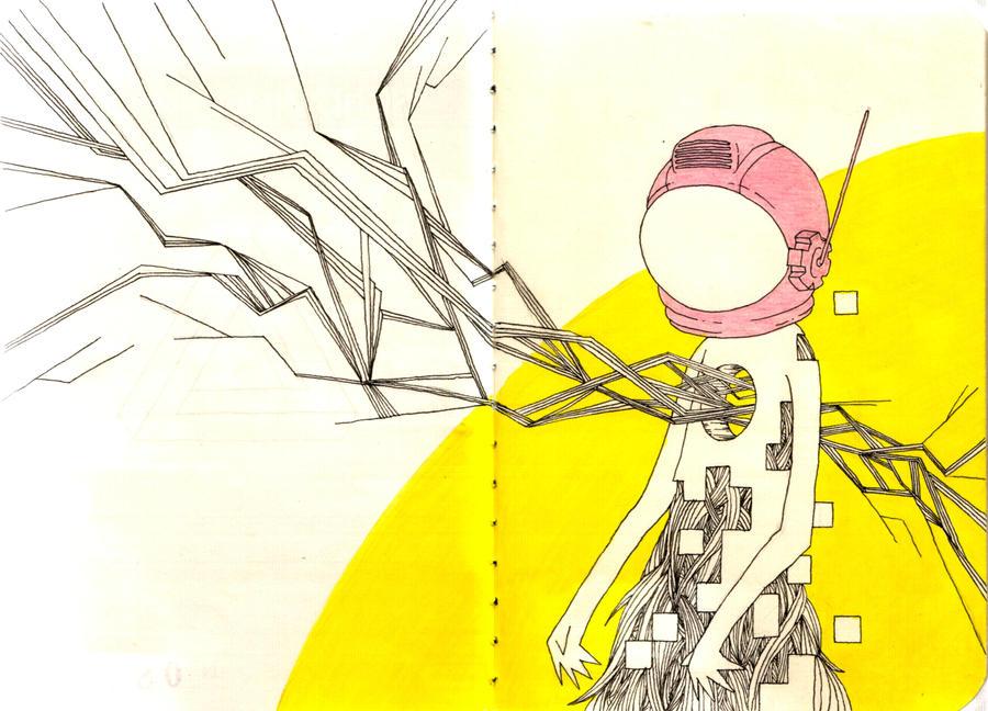 Astronaut - Moleskine by low-dmg