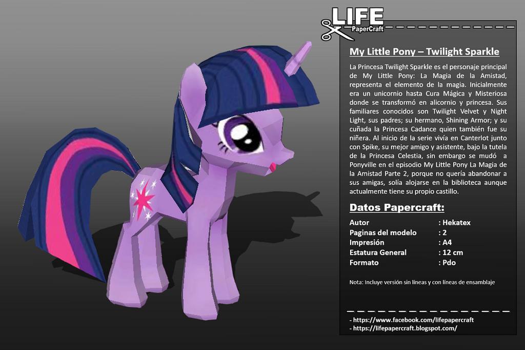 My Little Pony - Twilight Sparkle (Info) by lifepapercraft ...