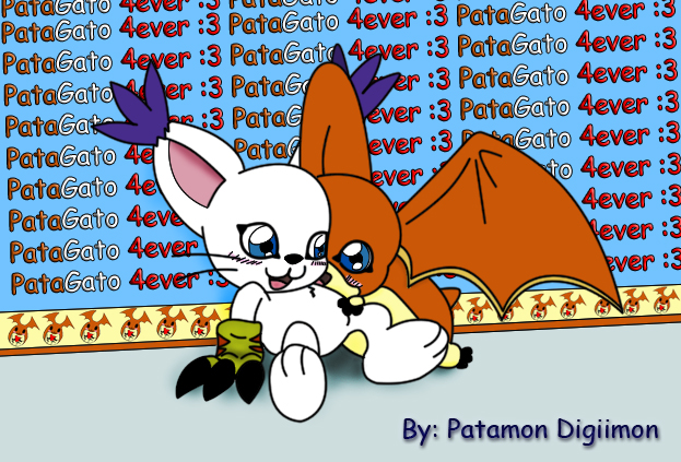 Gatomon And Patamon patamon y gatomon pata...
