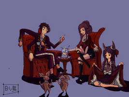 An unusual family. by 1ShiroiTori1
