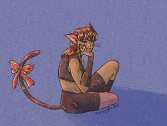 SGPA--Christmas Kitty by SAmaryllis
