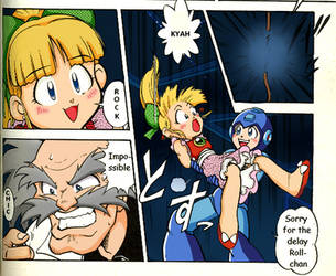 Megaman manga comics: Rock saving Roll by meteorstom