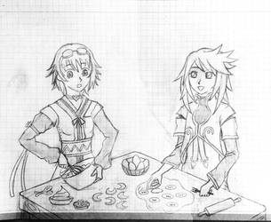 Tales: Genis and Rita cooking together by meteorstom