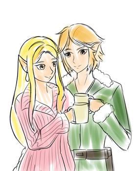Hyrule Warriors: Link and Zelda Merry Christmas