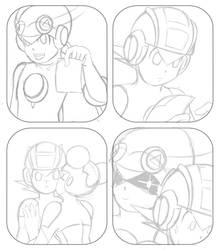 Rockman Exe.- Megaman and Roll in Whats this?