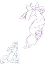 Kof and Garou: Bao vs Hotaru sketch