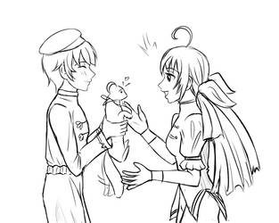 King of Fighters: Bao helping Hotaru find her pet by meteorstom