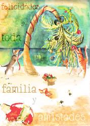 Felicidades - Happy Holidays by ArtbyGloriaColom