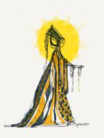 The sun by ArtbyGloriaColom