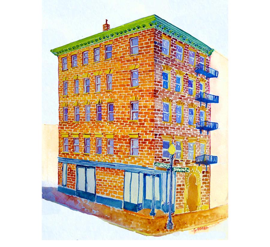 Building Portrait- 001 by ArtbyGloriaColom