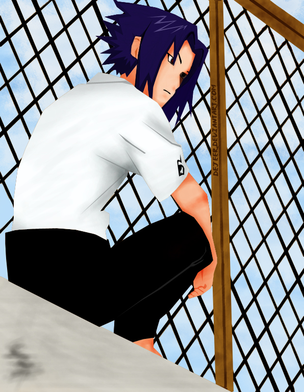 sasuke konoHa hiGh sChooL by deJeer