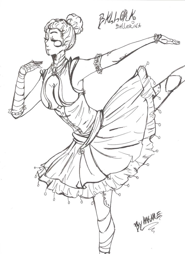 Fnaf ballora ballerina wip by akkame on deviantart for Fnaf anime coloring pages