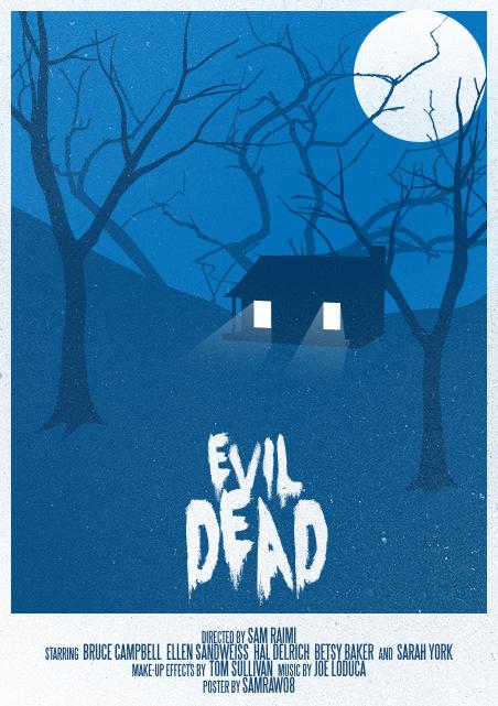-Imagenes raras e inconseguibles del cine de terror- - Página 2 Evil_dead_poster_by_samraw08-d3g37bu