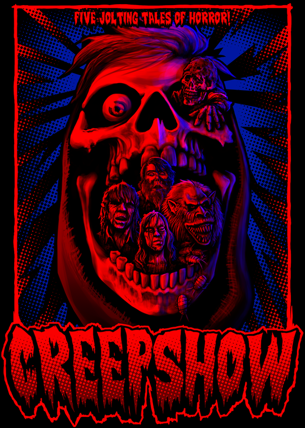 five jolting tales of horror creepshow poster by samraw08