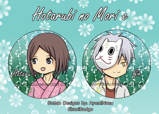 EkaniBadge: Hotarubi no Mori e by AyumiNazu