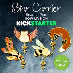 Star Carrier Pins by AyumiNazu