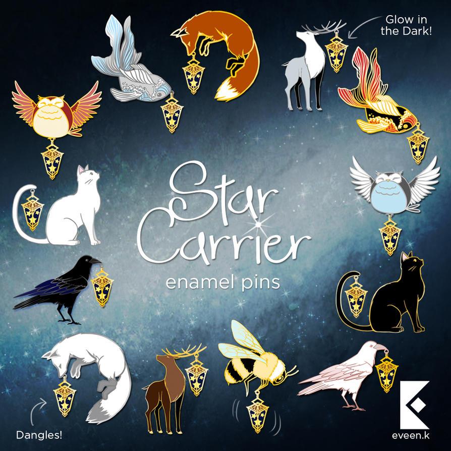 Star Carrier Pins (30 HOURS LEFT) by AyumiNazu