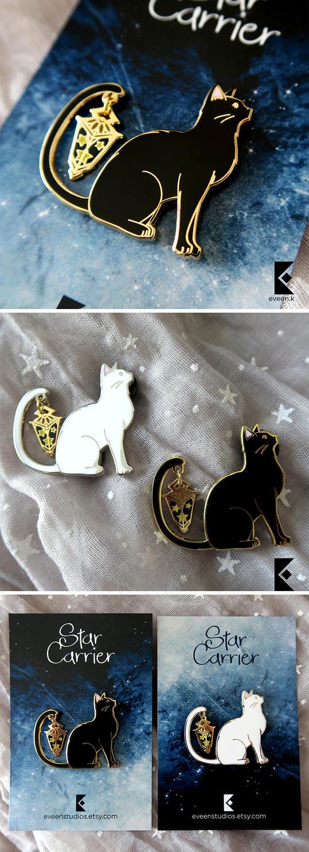 Cat Star Carrier Pin by AyumiNazu