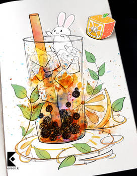 Excuse me, there is a Bunny on my Bubble Tea!