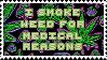 Medical Marijuana Stamp by Asriel-Dreamurr