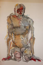 Nude watercolour by zimeatworld