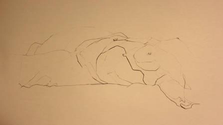 Contour nude female by zimeatworld
