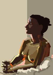 Lit portrait by zimeatworld