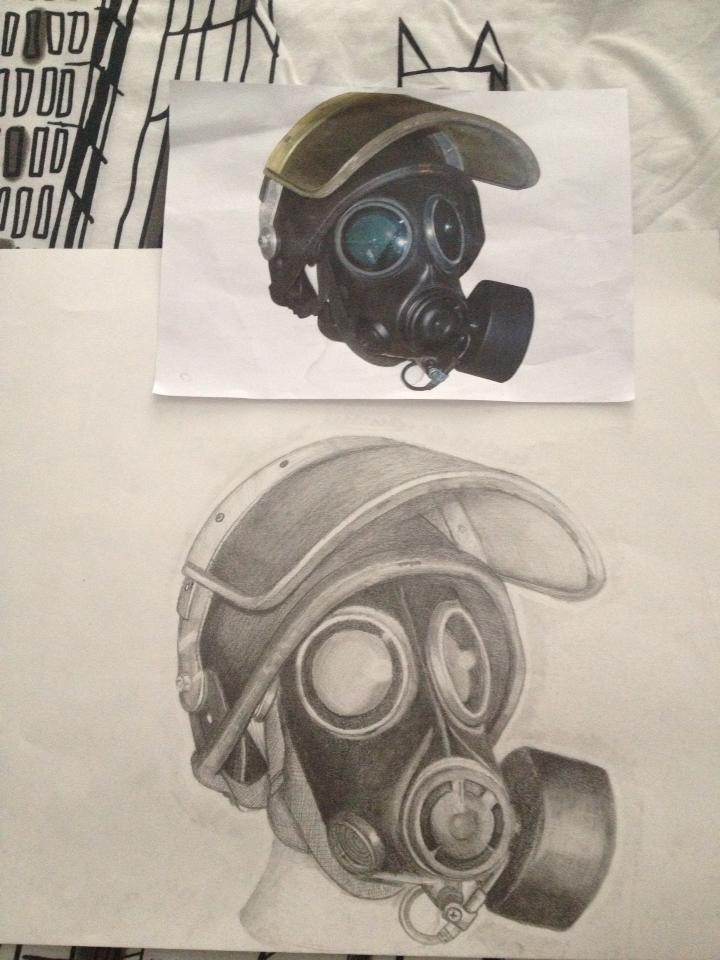 Riot Gas Mask pencil study by mattgingeclark on DeviantArt