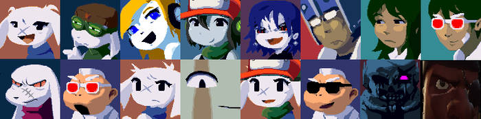 Custom Cave Story Faces by commandergrunt
