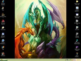 Desktop Dragons by Tari-Idril
