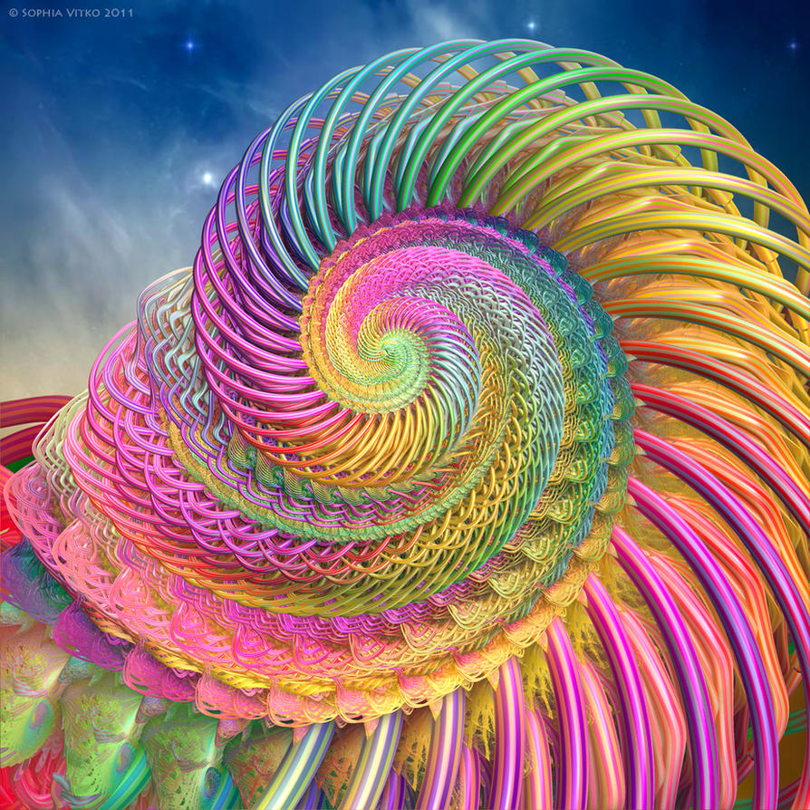 Rainbow shell by Fractal-Kiss