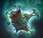 Tree Planet by Fractal-Kiss