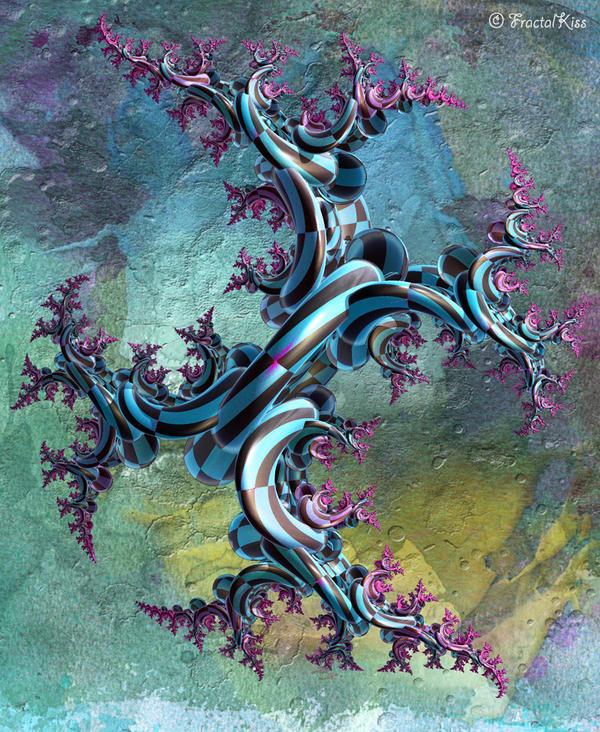 Blue Tree by Fractal-Kiss