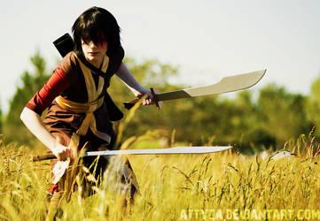 Prince Zuko cosplay with swords